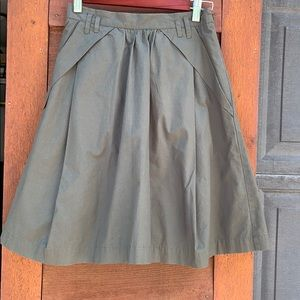 Odille army green skirt